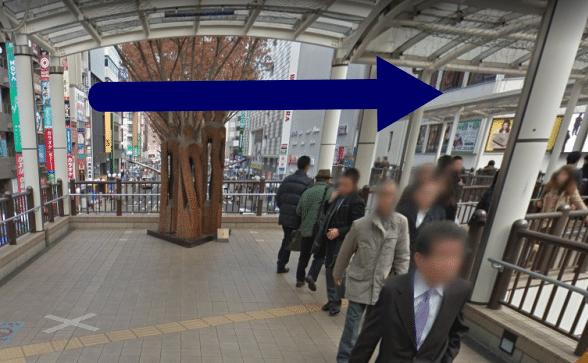メンズTBC立川店への道順(行き方)