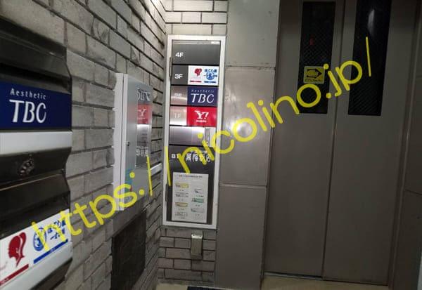 ビルのエレベーターです